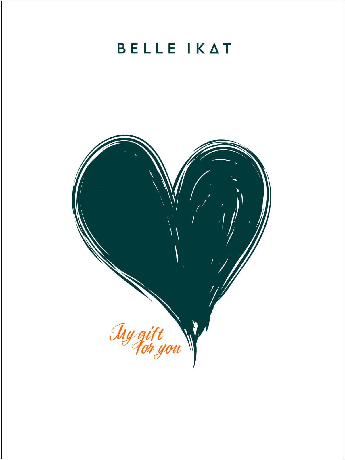 """Illustration von einem Herz und Schriftzug """"My gift for you"""""""