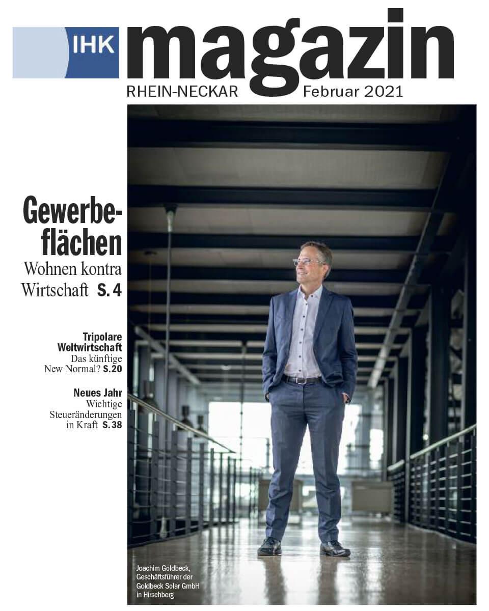 Titelblatt des IHK-Magazin von Februar 2021