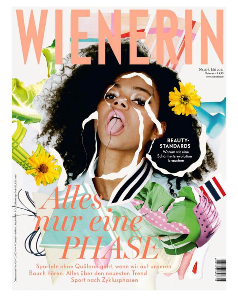 """Titelseite vom """"WIENERIN"""" Magazin, Ausgabe Mai 2021"""