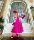 Wickelkimono Pink