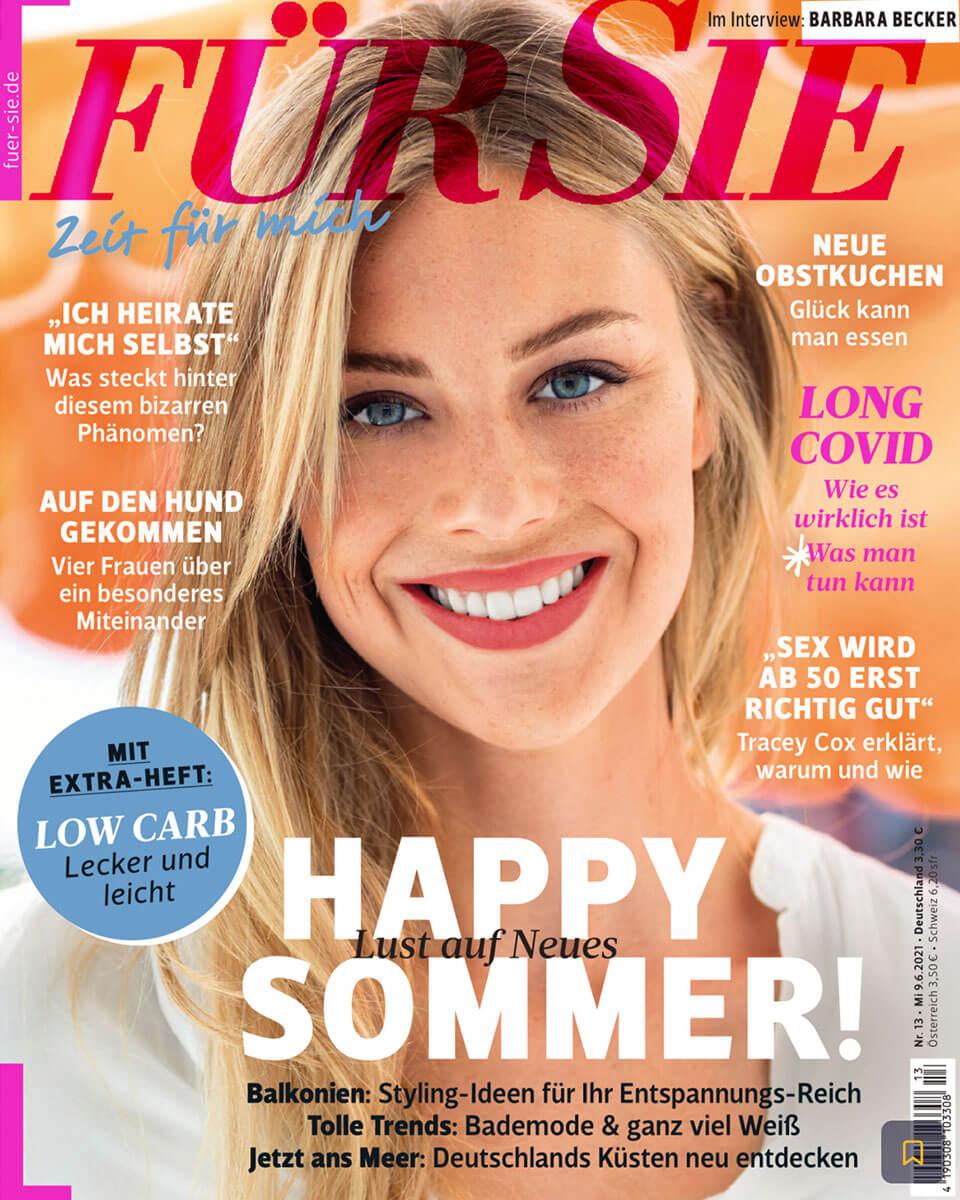 """Titelseite vom """"FÜR SIE"""" Magazin, Ausgabe Juni 2021"""
