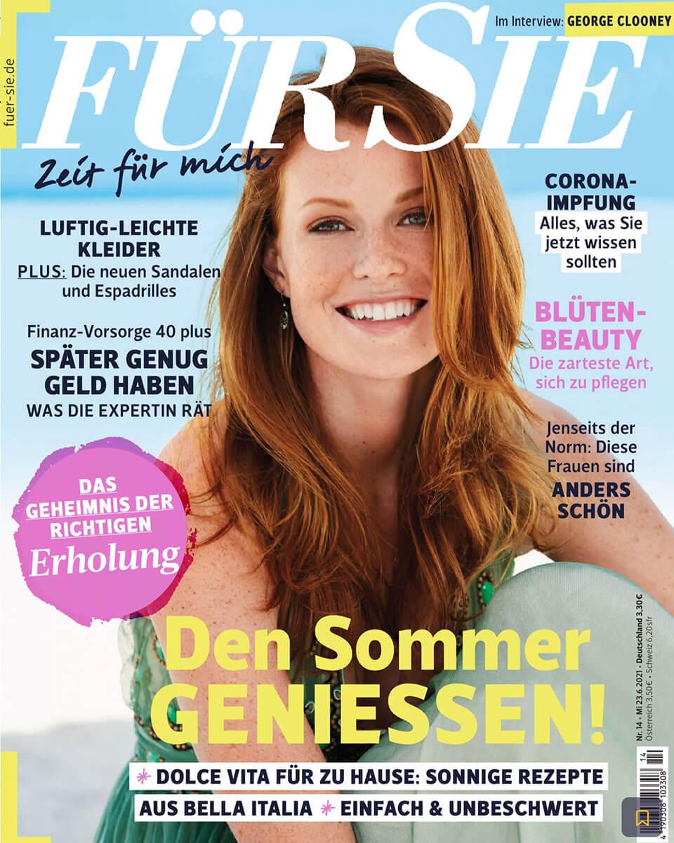 """Titelseite vom """"FÜR SIE"""" Magazin, Ausgabe 23 Juni 2021"""