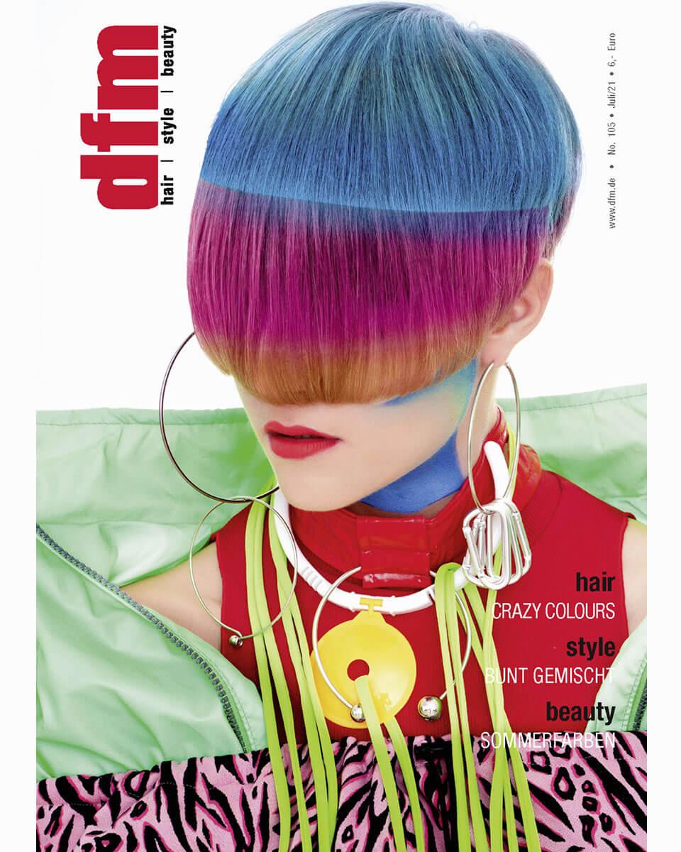"""Titelseite von """"dfm"""" Magazin, Ausgabe Juli 2021"""